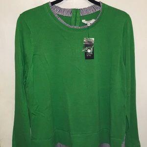 Crown & Ivy Green sweater shirt combo